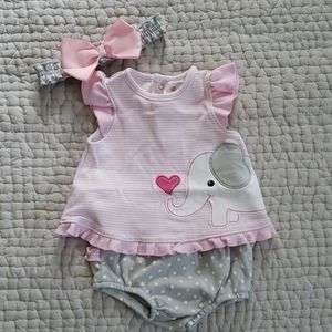 Starting Out Elephant outfit size 3 mos
